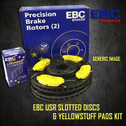 New Ebc 305mm Rear Usr Slotted Brake Discs And Yellowstuff Pads Kit Pd08kr208