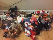 69+ Huge Random Beanie Babies Lot 1990s 2000s Ty Retired Rare Bears And Others