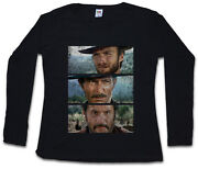 The Good The Bad And The Ugly Women Long Sleeve T-shirt Italo Western Cowboy Us
