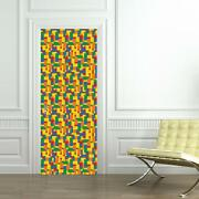 Lego Bricks Door Wrap Decal Wall Sticker Mural Personalized Name D107