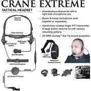 Earphone Connection Crane Extreme Tactical Headset For Motorola Apx Xpr Radios