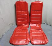 1971 Mustang Front Bucket Seat Upholstery Set Reproduction Vermillion Red