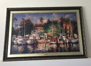 Cao Yong - Lahaina Afternoon Hawaii On Canvas 79 / 425 - Handcrafted Frame