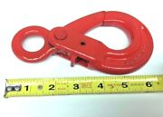 7/8-8 G80 Eye Self Lock 6 Safety Hook Lift Sling Rigging 2 Ton Towing Chain Hb
