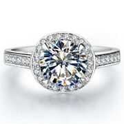 1ct Pure 14k White Gold Moissanite Ring Test Positive Luxury Anniversary Jewelry