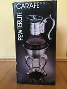 Vintage Fb Rogers Pewterlite Carafe Brand New In Box Very Rare Conditionstun