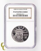 2000-w Platinum Eagle P100 1 Oz. Proof Graded Pf-69 Ultra Cameo By Ngc