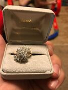 2 Carat Floral Diamond Ring. Lightly Used Very Well Taken Care Of