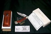Schrade Lb5 Knife And Sheath 1980's Uncle Henry Smokey 3-3/4 W/packaging,papers