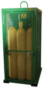 New Saf T Cart - Sts 12 Fw - 85 X 32 X 42 6-cylinder Capacity Storage Cage
