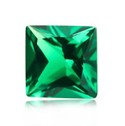 Russian Nano Crystal Green Square Princess Faceted Loose Stones3x3mm - 30x30mm