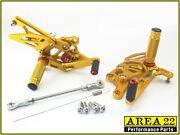 Yamaha Yzf R3 2015 Area 22 Adjustable Rear Sets Gold Rearsets Foot Controls R-3