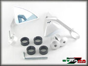 Strada 7 Silver Triangle Handle Bar End Mirrors Ducati Mts1000sds Ds St4 S Abs