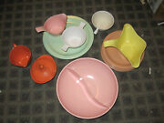 Lot Vintage 1950's Melmac Texasware Dishes Bowls Pink Coral Gravy