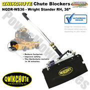 Qwikchute Deflector For Wright Stander And Stander Rh 36 Mower Decks / Nqdr-ws36