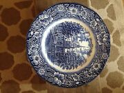 Liberty Blue Plates 10 Plates Total Blue And White In Color Made In England