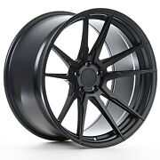 """22"""" Rohana Rf2 Matte Black Concave Wheels For Bentley Continental Gt Flying Spur"""
