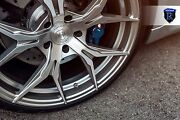 """22"""" Rohana Rfx5 Brushed Titanium Wheels For Bentley Continental Gt Flying Spur"""