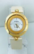 Versace Womenand039s 79q80sd497s002 Rotating Case Ring Mop Dial Leather Strap Watch