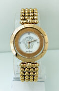 Versace Womenand039s 79q80sd497s080 Eon Rotating Ring Mop Dial Iprg 4n Watch