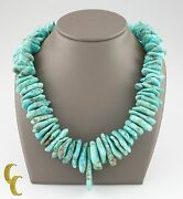 Turquoise And Shell Long Natural Necklace