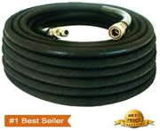 Pressure Washer Parts 100 Ft Foot 3/8 Black 4000psi Hose Hot And Cold Water