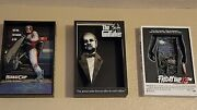 3d Movie Poster Sculpture Mcfarlane 7 Total Robocop,jaws,godfather,rocky And More