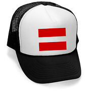 New Red Equal Sign Trucker Hat Black/white Cap Love Gay Pride Support Lgbt V237