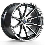 20andrdquo Rohana Rc10 Machined Black Rims For Dodge Charger Challenger 300 20x9 20x10