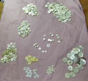 Antique Vintage White Lot Of Buttons 2 And 4 Hole Mother Of Pearl Glass Celluloid