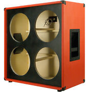 4x12 Guitar Speaker Empty Cabinet Fire Red Tolex Us Made Multylayer Ply G4x12st