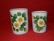 Vintage Canister Jar Planter Hand Painted Made in Italy Signed Doni and Numbered