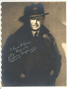 Charley Grapewin Uncle Henry Of Oz Autographed Photo- Rare