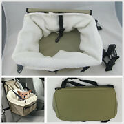 Booster Car Seat Pet Carrier Safety Basket Sheepskin Fit Medium Andsmall Dogs Cats