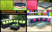 18and039and039 Scatter Back Bench Cushion Sets Pallet Garden Furniture Waterproof Fabric