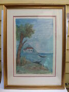 Color Landscape Lithograph By Carlo Carra Limted Edition Signed