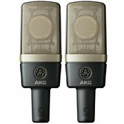 Akg C314 Matched Pair Stereo Professional Microphone Set C/w Flight Case