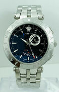 Versace 29g99d009s099 V-race Gmt Stainless Steel Alarm Watch 29g