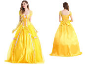 Womens Fairytale Storybook Belle Beauty And The Beast Ball Gown Costume