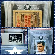 1927 Dempsey Tunney The Long Count Ticket Psa Churchman Boxing Card Collection