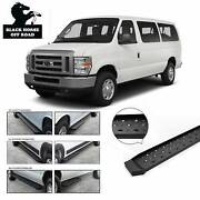 Black Horse Commercial Spartan Running Boards Fits Ford E Series E150 E250 E350