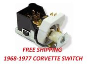 68 - 77 Chevy Corvette Reproduction Headlight Switch New Correct Ports