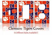 Clemson Tigers 2 Light Switch Covers Football Ncaa Home Decor Outlet