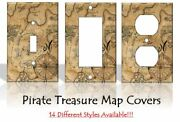Pirate Treasure Map Light Switch Covers Bedroom Kids Baby Home Decor Outlet