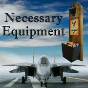 Air Force Bottle Opener And Cap Catcher - Real Wood - Wall Mounted