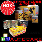 Ngk Spark Plugs And Ignition Coil Set Bkr6e-11 2756 X4 And U4010 48183 X2