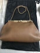 Nwt Beautiful Dolce Gabbana Leather Shoulder Bag With Chain. Gorgeous