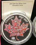 1867-2017 Canadian Icons Maple Leaf 50 5oz Pure Silver Coin Canada150 Privymark