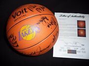 1983 Los Angeles Lakers Show Time Team Basketball With 15 Confirmed Signatures