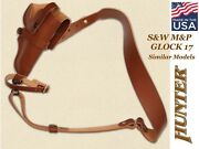Hunter Bandoleer Sling Holster Leather For Glock 17 Smith And Wesson Mandp 3-in-1